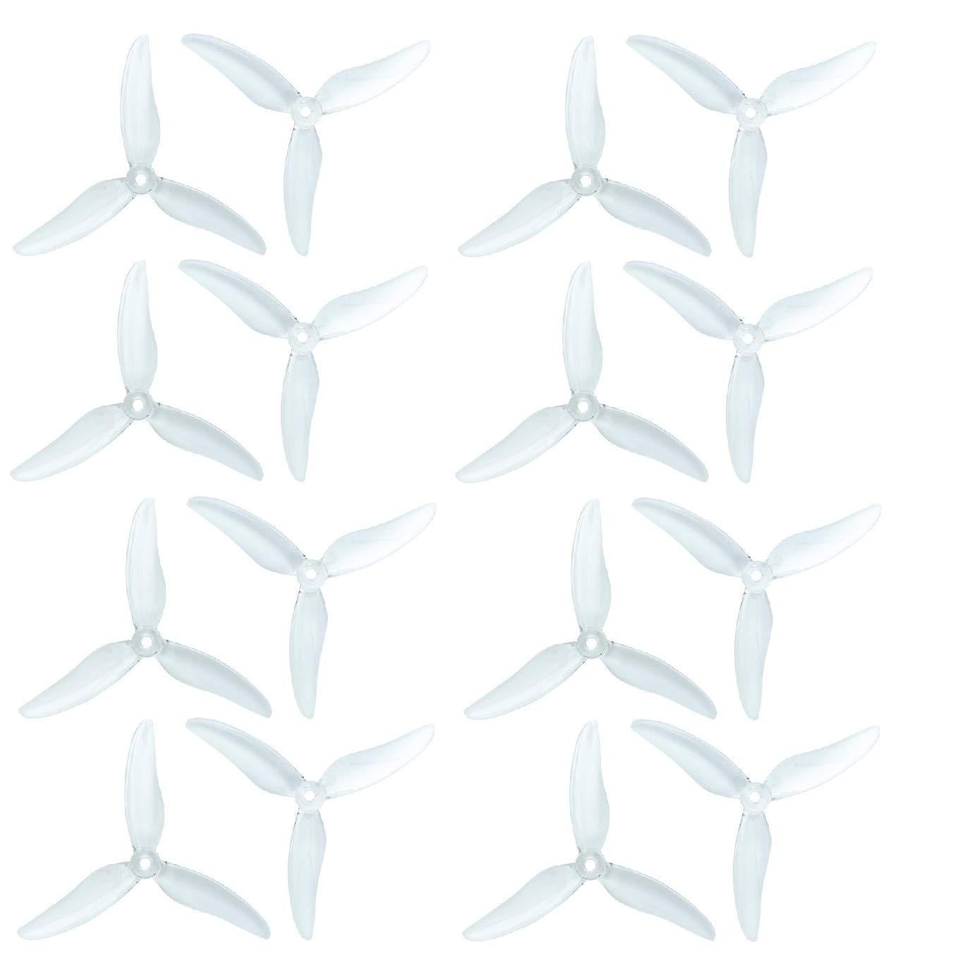 RAYCorp 純正Gemfan 51499 3ブレード (5.1x4.9x3) プロペラ 16ピース(8CW、8CCW)クリスタル - ポリカーボネート 5.1インチ 三枚羽 クアッドコプター & マルチローター プロペラ + RAYCorp バッテリーストラップ B07LDDY7XY