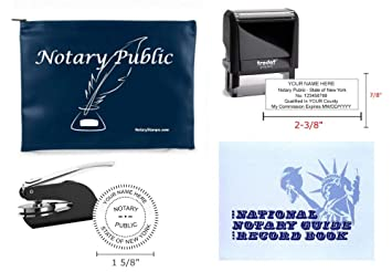 Amazon Com Notary Public Value Package Journal Seal