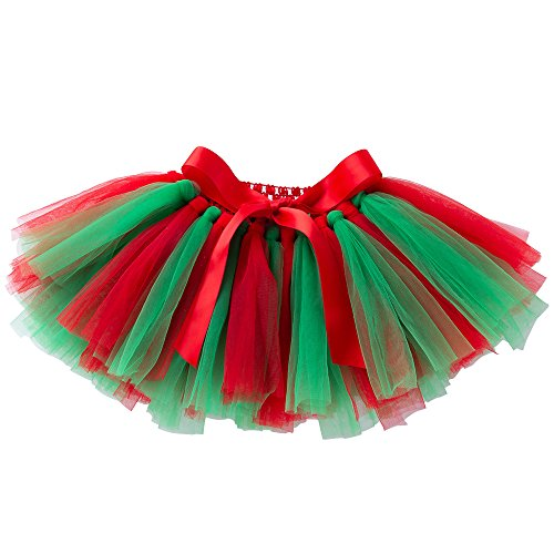 FCLBY Christmas Pettiskirt Baby Tutu Tulle Skirts for Baby Girls Three Styles (0-36 mo)