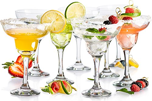 (KooK Margarita Clear Durable Glass, 10 Ounce, 8 Piece Set)