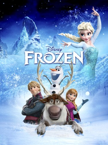 with Frozen DVD's design