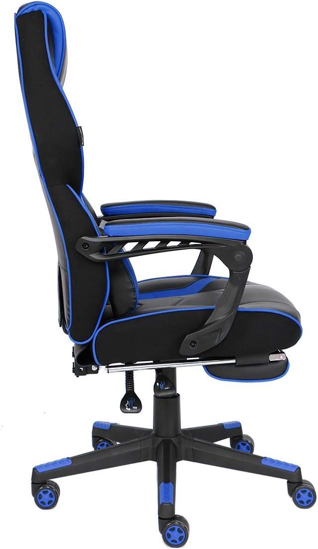 ELECWISH Chaise Gaming Fauteuil de Bureau Gamer Siège Ergonomique avec Repose-Pieds et Soutien Lombaire
