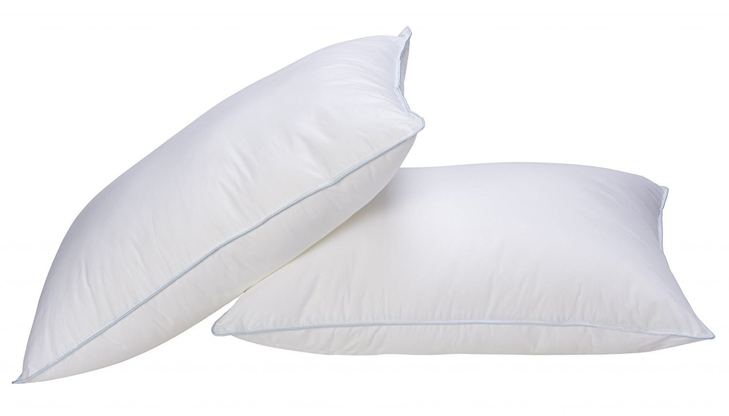 #1 Pair Of Premium Super Microfibre Bounce Back Pillows, Department Store Quality – EXCELLENT for Allergy Sufferers. Goose Down Like - Soft to Medium Support By Rohi Intelo Textiles
