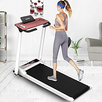 Electric Folding Treadmill | Motorized Portable Pad Treadmills Walking Jogging Running Exercise Fitness Machine w/Incline LCD Display and Bluetooth Speaker (from US, Silver) (from US, White): Kitchen & Dining