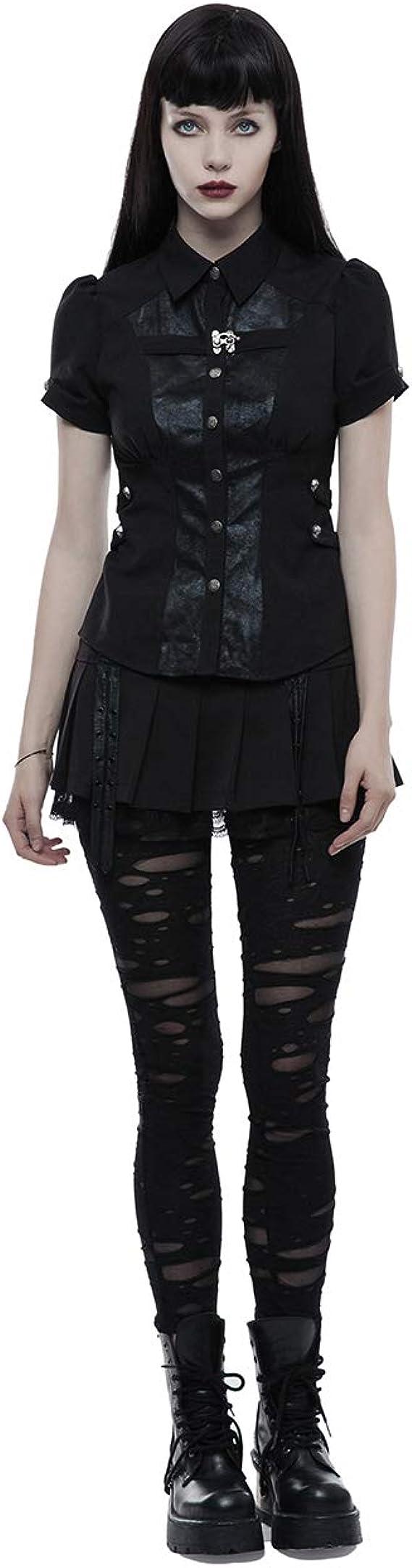Gothic Steampunk Punk Rave Top Shirt Bluse Spitze 38 40 42 44