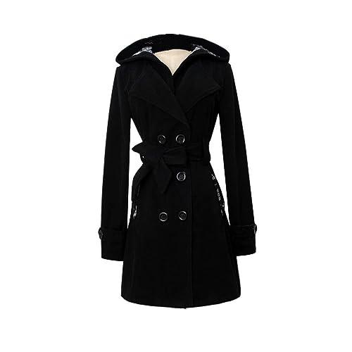 Abrigos de mujer,Culater Chaqueta de abrigo largo con capucha de invierno