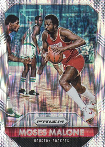 (2015-16 Panini Prizm Basketball Prizms Flash #260 Moses Malone Houston Rockets)