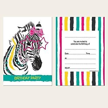 Carte Anniversaire Zebre.Cartons D Invitation Pour Anniversaire D Enfant Motif Zebre