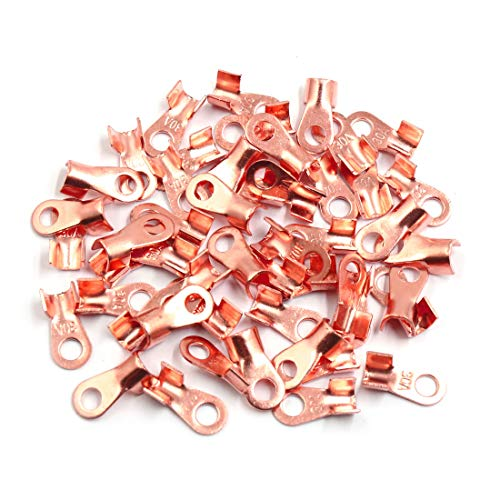 Sourcingmap 50pcs 30A Copper Ring Terminals Lug Battery Cable Connector: