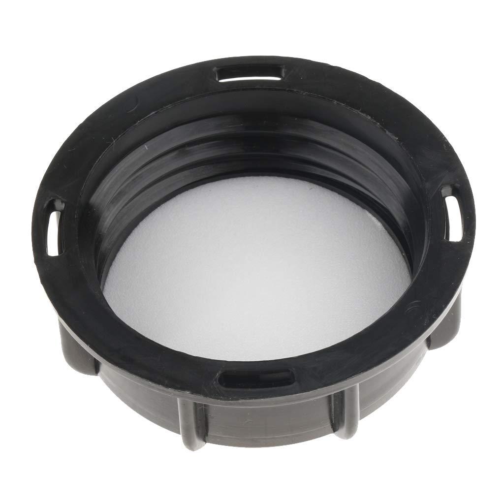 B Blesiya IBC Tank Lid, IBC Tote Fitting Cover Cap for Water Liquid Storage, Plastic Black