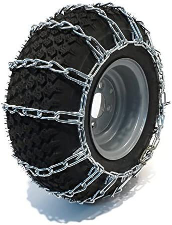 The ROP Shop Pair 2 Link TIRE Chains 20x8.00x10 for Simplicty Lawn Mower Garden Tractor Rider