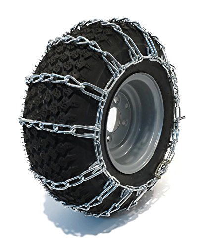 The ROP Shop Pair 2 Link TIRE Chains 20x8.00x8 for MTD/Cub Cadet Lawn Mower Tractor Rider