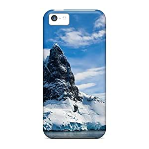 Premium Snowy Cliff Back Cover Snap On Case For Iphone 5c