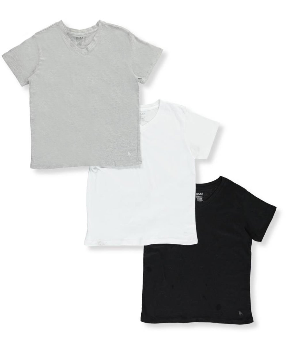 BUM Equipment Big Boys' 3-Pack V-Neck T-Shirts 16-18