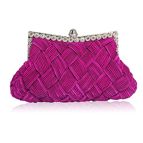 Design Party Ladies Clutch New Evening Bridal Purse With Handbag Women Chain Look 1 Diamante Purple Designer wFRXOqxX
