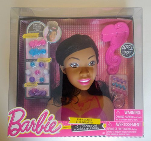 Search : Barbie Fab Friends 20-Piece Styling Head Set - African American
