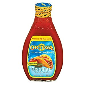 Ortega, Taco Sauces, 16oz Glass Jar (Pack of 2) (Choose Heats Below) (Original Medium)