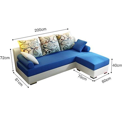 Amazon.com: XIAOSUNSUN Simple Modern Fabric Sofa Combination ...