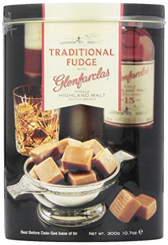 Gardiners of Scotland Traditional Fudge with Glenfarclas Single Highland Malt Scotch Whisky, 10.7-Ounce