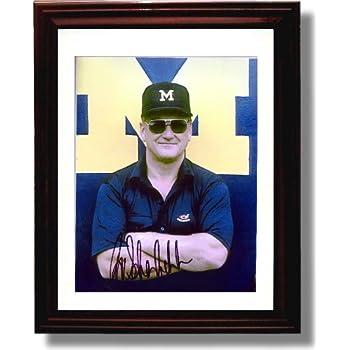 Amazon Com Framed Bo Schembechler Michigan Wolverines