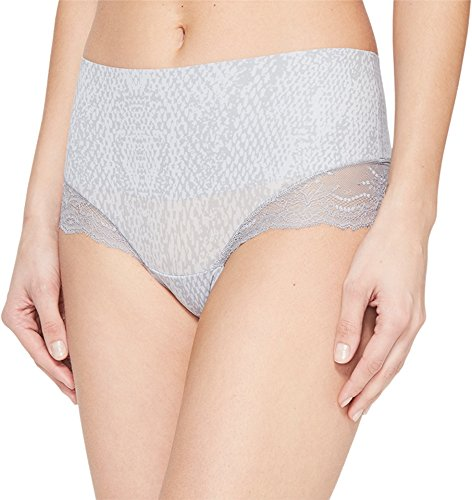 SPANX Women's Undie-Tectable Lace Hi-Hipster Panty Grey Python X-Small
