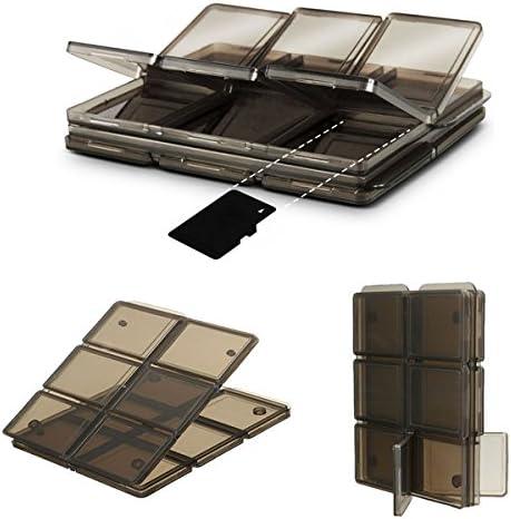 GOZAR Plegable 12 Ranura Sim/Micro SD/TF Tarjeta De Memoria Caja ...