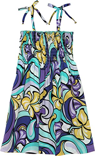 RJC Girls Glorious Floral Elastic Tube Dress PURPLE 3 by RJC