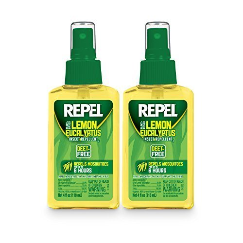 (Repel Lemon Eucalyptus Natural Insect Repellent, 4-Ounce Pump Spray, Pack of)