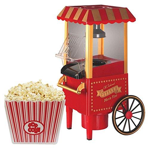 Sentik Carnival Popcorn Maker Machine 30's Style Retro Popper Oil and Fat Free