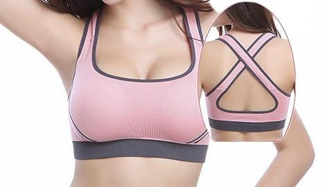 Stretch Soutien-Gorge Soutien-Gorge Soutiens-Gorge Push Up Fitness Yoga  Sport Soft 20974575b52