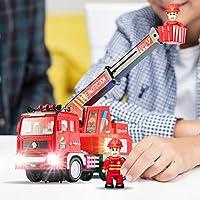 Zetz Brands Fire Truck 4D Lights Hook and Ladder