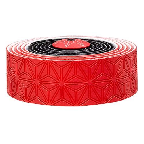 (Supacaz Super Sticky Kush Multi Colored Handlebar Tape, Red/Black )