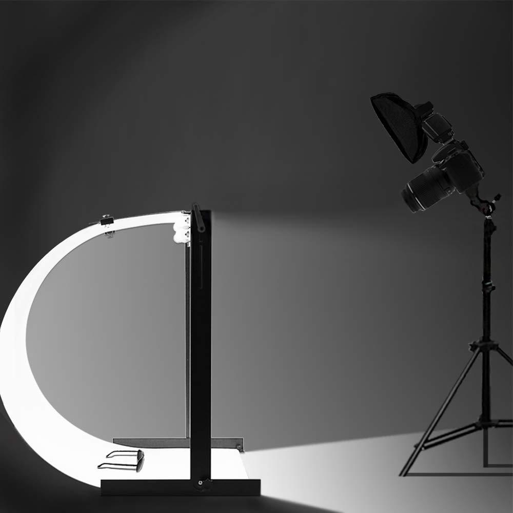 Lusana Studio Photo Shooting Table Stand Kit with Double LED Light Tube 6500K, TEMLNA1088 by Lusana Studio (Image #2)