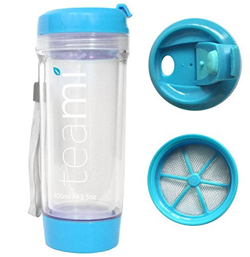 Transparent Plastic Tumbler (Blue) Set of 2 - 1