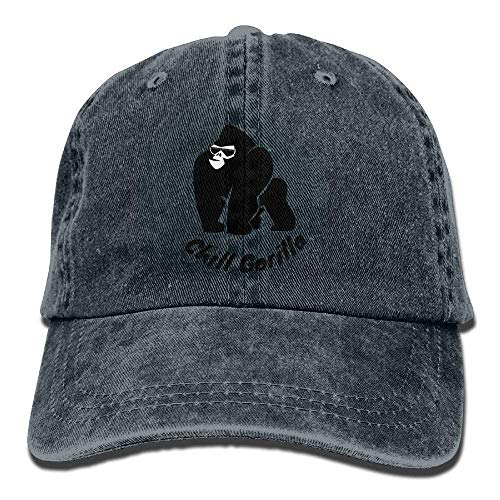 Sport Denim Chill Cowboy Men Hats Cap Women Gorilla Cowgirl for DEFFWB Hat Skull w6Fq118R