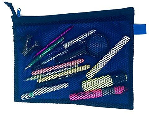 Amazon.com : School STG Bolsas para lápices con 2 Divisiones y zíper resistente, Azul Verde y Naranja (Orange) : Office Products
