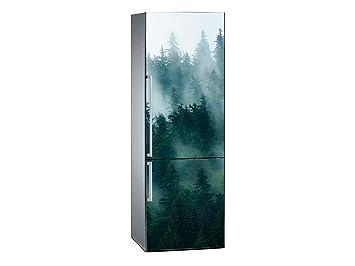 Kühlschrank Aufkleber : Amazon oedim vinyl stickers kiefern mit nebel kühlschrank