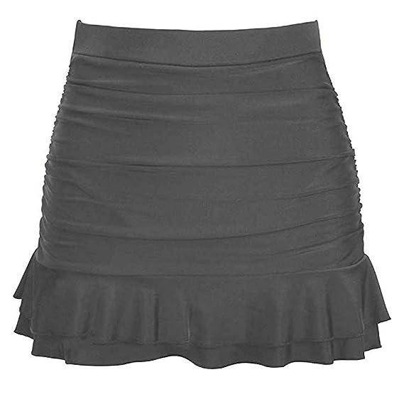 Amandaz Falda de Vestido para Mujer, básica, Cintura Alta ...