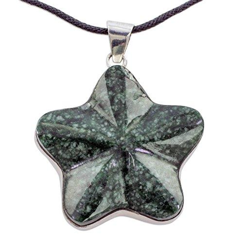 (NOVICA Jade .925 Sterling Silver Pendant Necklace 'Wishing)