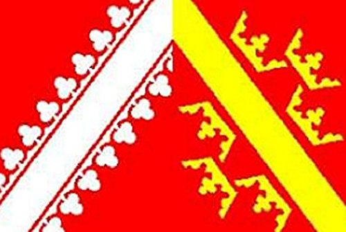 Alsace Flag 5ft x 3ft Large - 100% Polyester - Metal Eyelets - Double Stitched
