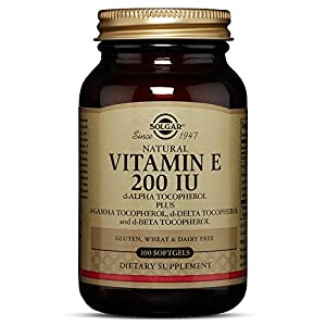 Solgar Vitamin E 200 IU (d Alpha Tocopherol & Mixed Tocopherols) 100 Mixed Softgels