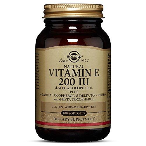 Solgar Vitamin E 200 IU (d Alpha Tocopherol & Mixed Tocopherols) 100 Mixed Softgels