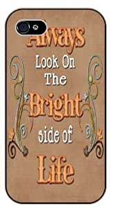 Always look on the bright side of life - Vintage - Bible verse iPhone 5 / 5s black plastic case / Christian Verses