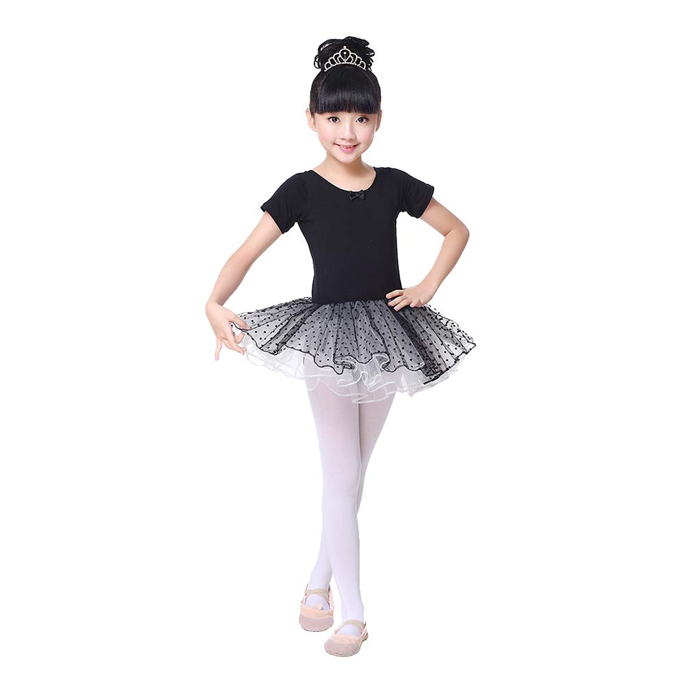 Fosheng Girls Cute Tutu Dress Leotard Skirt for Dance Gymnastics Ballet