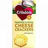 MRS. CRIMBLE'S Gluten Free Rosemary and Onion Cheese Crackers 125g