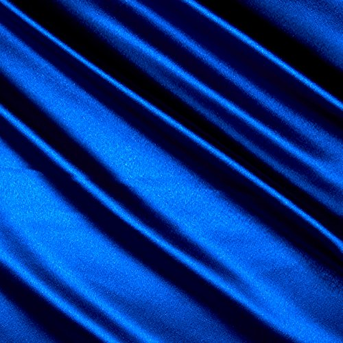 Ben Textiles Inc. Heavy Crepe Back Satin Royal Fabric by The Yard