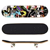 [US Stock] Lantusi 31″x 8″ Pro Complete Skateboard 9 layer Maple Wood Deck Skate Board