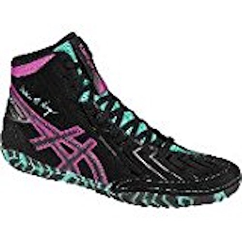 ASICS Men's Aggressor 3 L.E. AG Wrestling Shoe, Black/Onyx/Pink Glow, 8.5 M US by ASICS