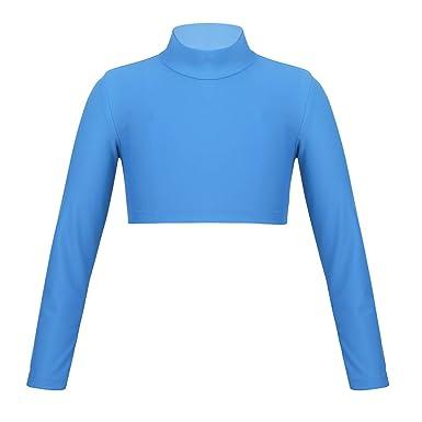446fd17c41e0c MSemis Enfant Fille Haut Manches Longues T-Shirt Hauts de Danse Ballet Vest  de Gymnastique