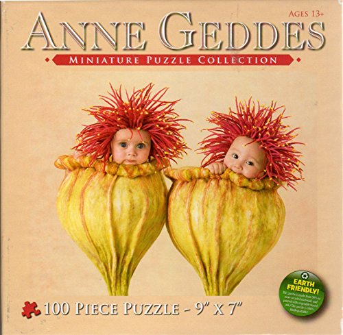Anne Geddes Miniature Puzzle Collection 100 Pc 7 X 9 Puzzle - 2 Babies in Flower Blossoms by Anne Geddes - Anne Geddes Flower Collection